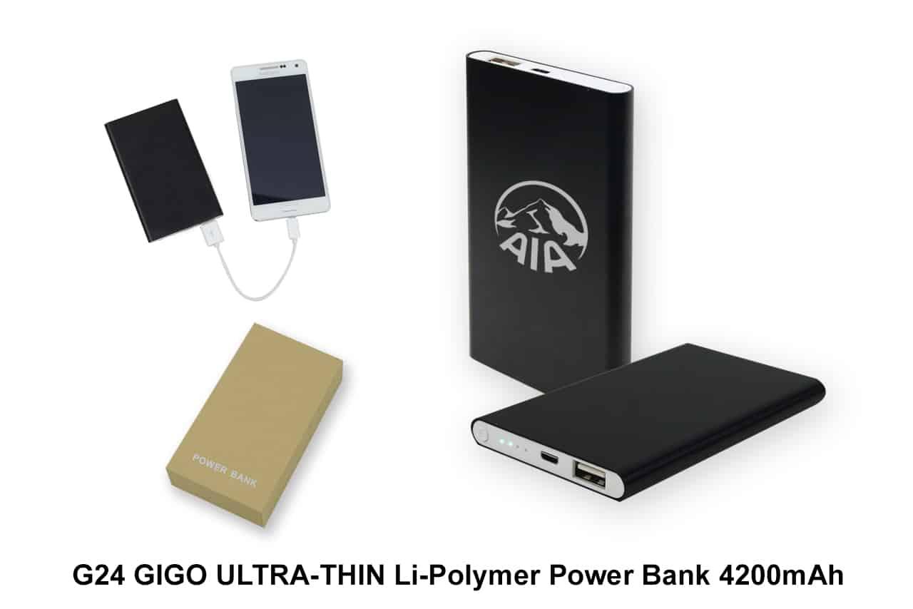Corporate Door Gift: GIGO ULTRA-THIN Li-Polymer Power Bank 4200mAh