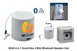 SG25 4 in 1 Smart Box 2 Mini Bluetooth Speaker (3w)
