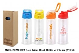 M70_LIKEME BPA Free Tritan Drink Bottle w Infuser (710ml)