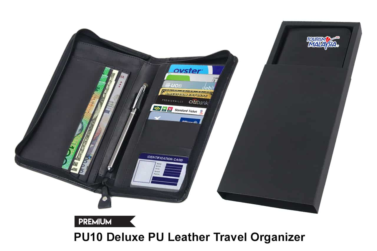 Deluxe PU Leather Travel Organizer
